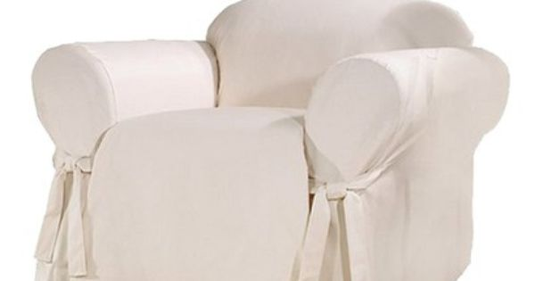Sailcloth Cotton Duck Loveseat Slipcover Sure Fit Slipcovers For Chairs Armchair Slipcover Big Comfy Chair