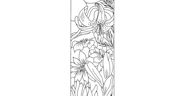 Floral Alphabet Coloring   Dover Coloring   Pinterest ...