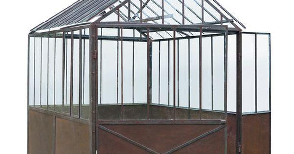 serre en m tal effet rouille h 252 cm deco verri re pinterest rouille serre et metal. Black Bedroom Furniture Sets. Home Design Ideas