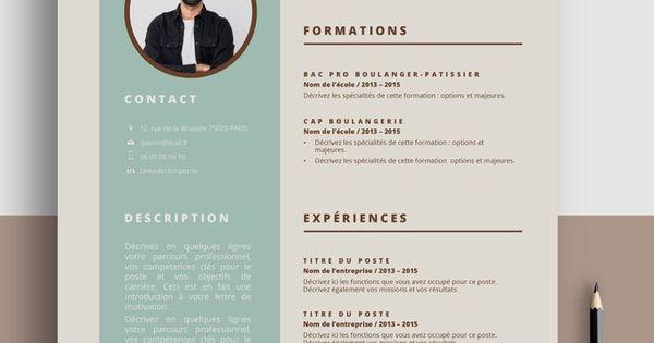 Cv Boulangerie Commerce Cv Template A Telecharger En 2021 Bon Cv Curriculum Vitae Vendeuse En Boulangerie