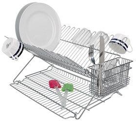 Metallic Folding Dish Rack Dish Racks Housewares Home Storage