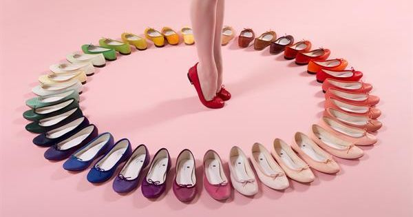 My dream! Ballet flats in every color on the color wheel!