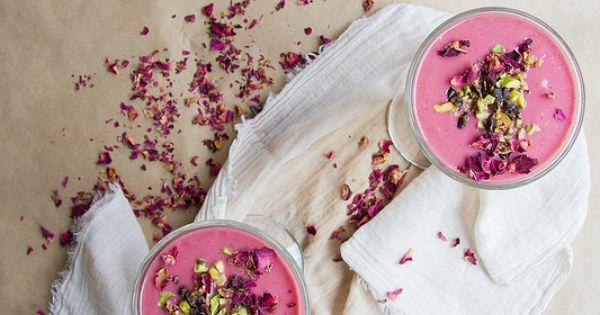 raspberry + rosewater (valentine) smoothie | Smoothie, Raspberries and ...