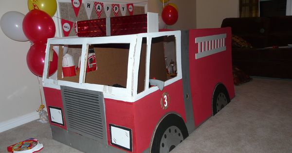 how to make a fire truck from cardboard boxes - Google ...