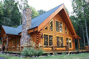 Image Result For Two Story Log Cabin Homes Log Homes Log Home Decorating Log Home Interiors