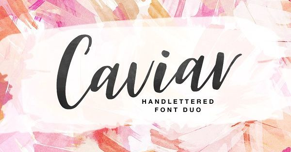 Caviar font – a sweet hand lettered font DUO. This brush font is ideal for branding and decorate your any project