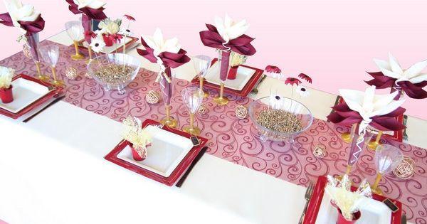 Cette d coration de table a t imagin e pour des noces d - Cette de table ...