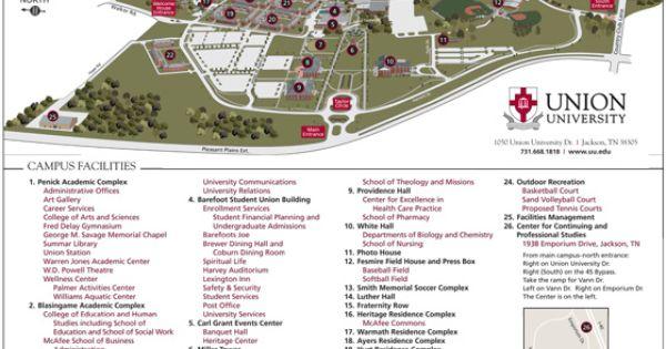 Colleges In Memphis Tn >> Union University, Jackson TN new campus map | Visit