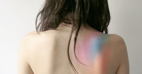 REALLY interesting idea for a tattoo! Colorful, on the shoulder/back. Faded colors,