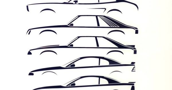 Silhouette History - Ford Mustang. Love this evolution ...