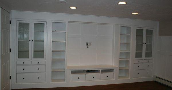 Basement Built In Using Ikea For The Home Pinterest