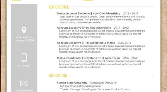 this yellow and grey  resume  template is  professional  simple and modern  this design will