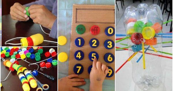 15 divertidos juguetes educativos que puedes hacer con las - Que se puede hacer con botellas de plastico ...