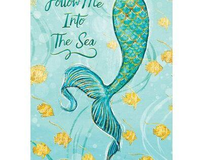 Custom Decor Mermaid Tail 2 Sided Polyester 18 X 12 In Garden Flag In 2020 Mermaid Canvas Mermaid Painting Mermaid Artwork