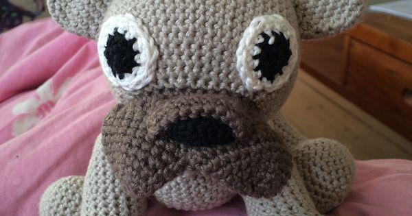amigurumi dog french bulldog, PDF crochet pattern animal ...