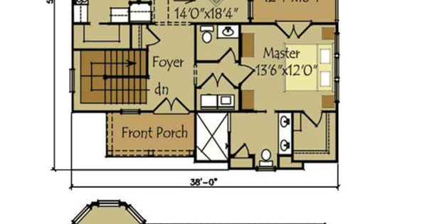 Small cottage plan with walkout basement rustic cottage for Cottage house plans with basement