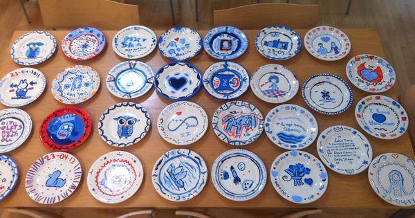 Zelf delfts blauw bordje schilderen 1e klas beeldende vorming pinterest - Geschilderde bundel ...