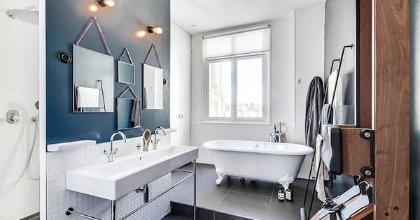 Id es d co salle de bain multiplier les miroirs de for Appartement deco bistrot