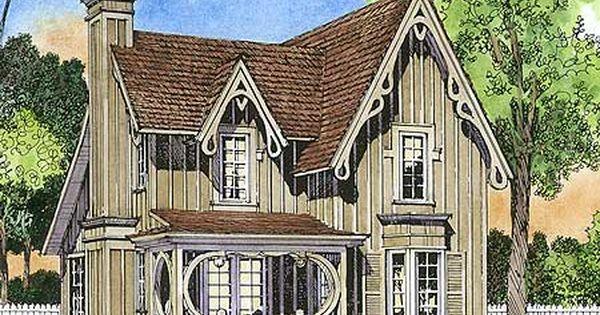 Plan 43044pf Gothic Revival Gem Victorian House Plans Gothic House House Plans
