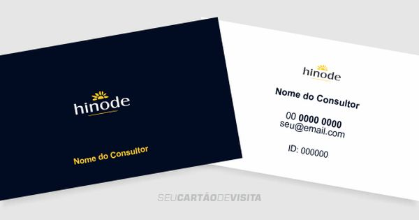 Cartao De Visita Hinode Bonito E Editavel Download Gratis
