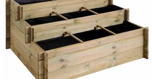 carr potager 3 hauteurs pots. Black Bedroom Furniture Sets. Home Design Ideas
