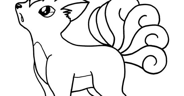 Vulpix coloring pages google search coloring pages for Vulpix coloring pages