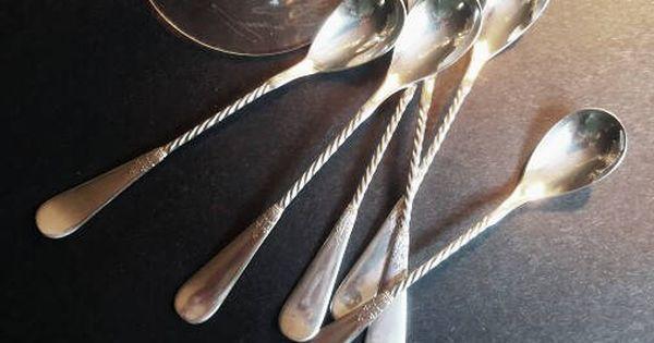Niagara Falls Silver Co Twisted Cocktail Spoon