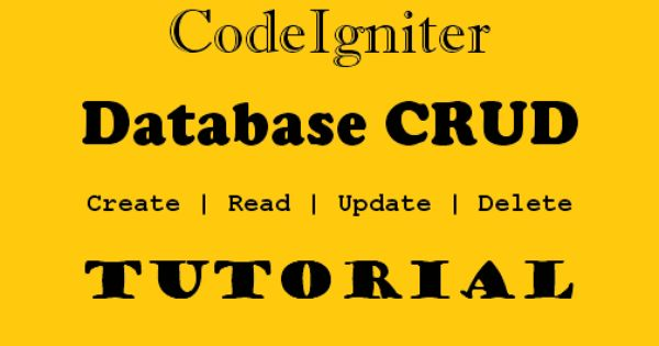 PHP CodeIgniter Database CRUD Tutorial using Twitter ...