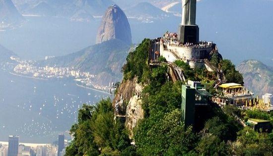 Statue of Jesus Christ overlooking the City of Rio de Janeiro, Brazil,