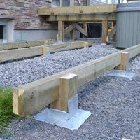 Titan Deck Foot Ground Anchored Deck Footings In A Minute At Decksgo Deck Footings Diy Deck Deck Foundation