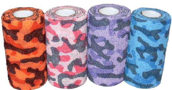 Powerflex Camo Bandages Equine Leg Wraps Camouflage Colors Bandage Blue Camouflage