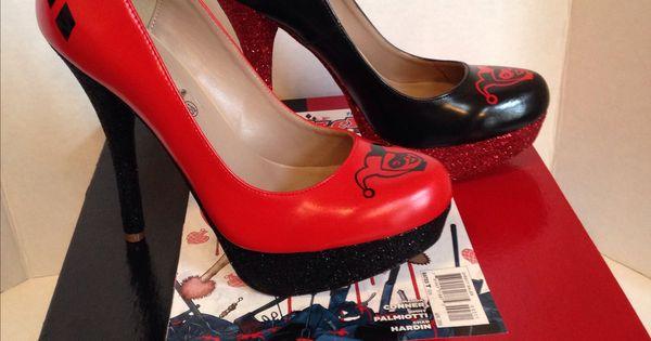 harley quinn heels shoes pinterest customiser chaussures soulier et chaussure. Black Bedroom Furniture Sets. Home Design Ideas