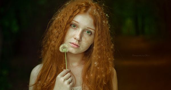 The Girl with the Dandelion Hair -- much more cheerful than the