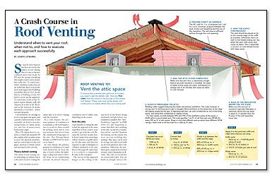 Does A Roof Need A Ridge Vent Fine Homebuilding Roof Insulation Ridge Vent Crash Course