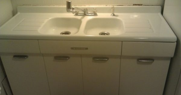 White Porcelain Kitchen Sink with Double Basins and Drainboards eBay ...