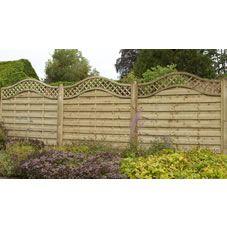Forest Garden Prague Fence Panel 1 8m Pk Of 3 At Wilko Com