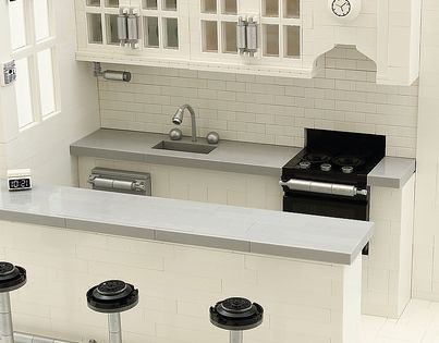 Best A Brick Built Home Incredible Lego Modern Kitchen 400 x 300