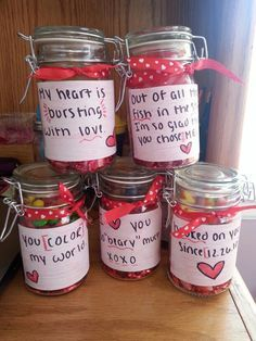 Mason Jar Gift Ideas With Sweets