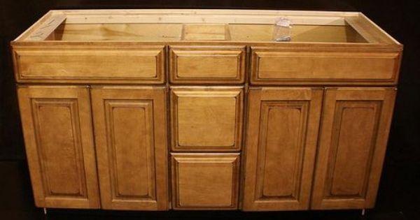 Kraftmaid Burnished Praline Maple Bathroom Vanity Sink Cabinet 60 Bathroom Ideas Pinterest
