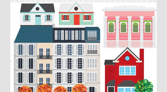 House Clipart Houses Clip Art Buildings Homes Shotgun House French Houses English Houses