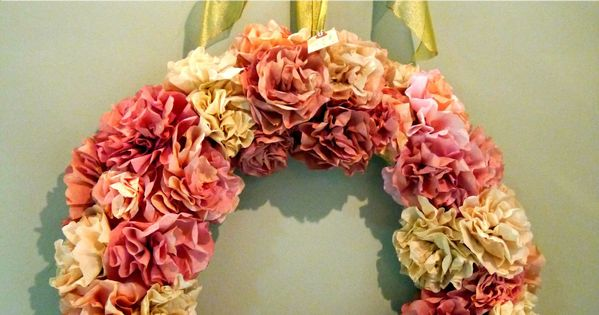 Coffee Filter wreath - perhaps this weekend's project?