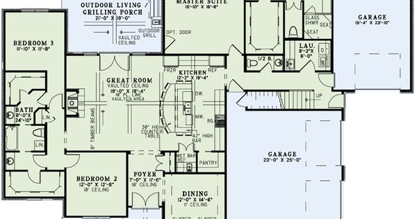 First Floor Plan Of Craftsman European Tudor House Plan