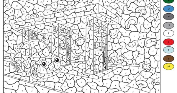 Car At Gas Station Color By Number Coloring Page Free Printable Coloring Pages Printable Coloring Pages Coloring Pages Free Printable Coloring Pages
