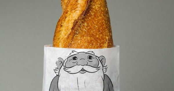 PACKAGE Design by Lo siento estudio. It's funny because the bread is