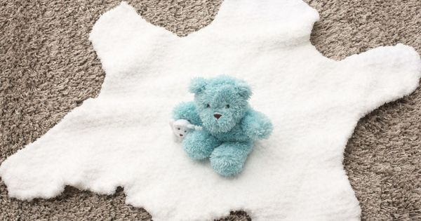 """Bear Rug Knitting Pattern : Free knitting pattern for a cozy """"bear skin rug from"""