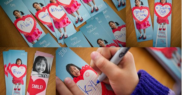 Photo Valentines Day Cards - What a great personal idea for kids