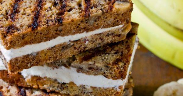 Grilled Banana Bread Ice Cream Sandwiches Recipe : Devour The Blog :