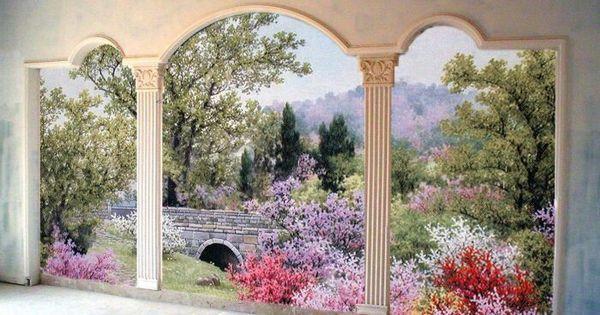 Pinterest wall murals and walls for Cypress gardens mural