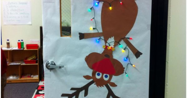 classroom door | Winter and Christmas Door Decoration and Bulletin Board Idea