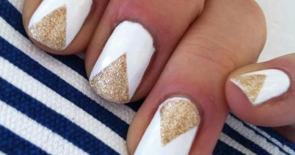 White And Gold Nail Designs A Simple But Powerful Combo